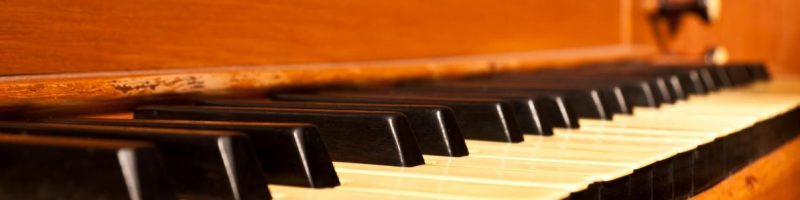 the keys of an organ