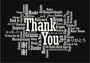 "The phrase ""Thank You"" in difference languages"