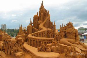 Gigantic sand castle