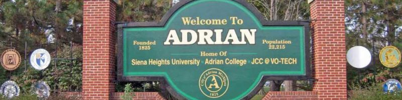"Road sign with name of ""Adrian"""