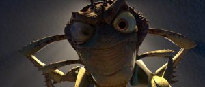 """an animated head of a grasshopper from the film, """"A Bug's Life"""""""