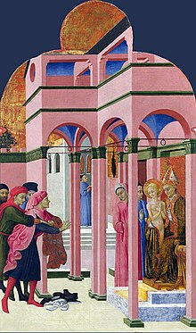 "Painting of ""St. Francis Abandons His Father"""