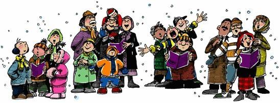 cartoon of Christmas carolers