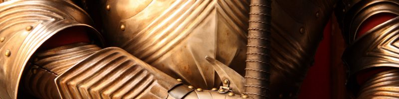 Close-up of a Knight's armor