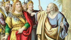 painting of the prophet Isaiah speaking against a king